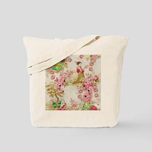 .::MoonDreams::. Pink Green Geisha Butter Tote Bag