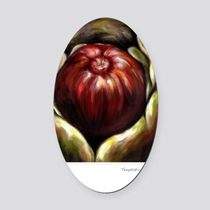 Temptation-Adams Dilemma Oval Car Magnet