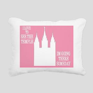 temple Rectangular Canvas Pillow