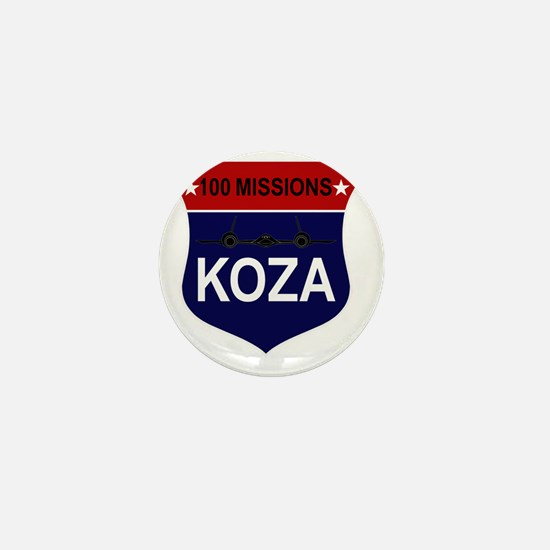 SR-71 - 100 Missions -KOZA Mini Button