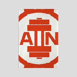 GAIINS Cog Logo Red Rectangle Magnet