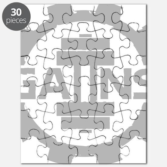 GAIINS Cog Logo Grey Puzzle
