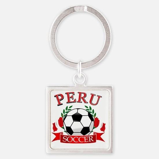 PERU Square Keychain