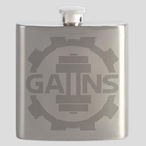 GAIINS Cog Logo Grey Flask