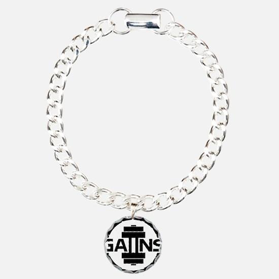 GAIINS Cog Logo Black Bracelet