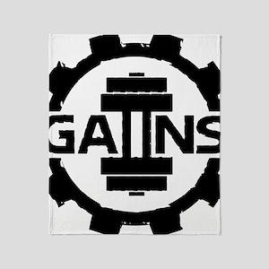 GAIINS Cog Logo Black Throw Blanket