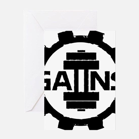 GAIINS Cog Logo Black Greeting Card