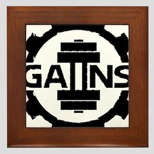 GAIINS Cog Logo Black Framed Tile
