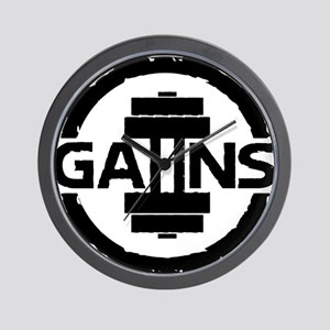 GAIINS Cog Logo Black Wall Clock