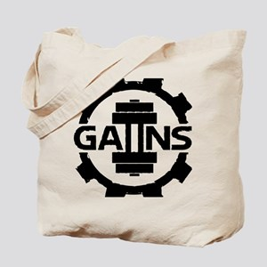 GAIINS Cog Logo Black Tote Bag