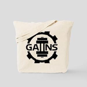 GAIINS Cog Logo Black Tote Bag