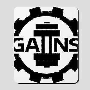 GAIINS Cog Logo Black Mousepad