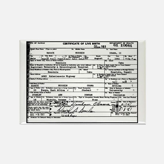 Obama Birth Certificate Rectangle Magnet