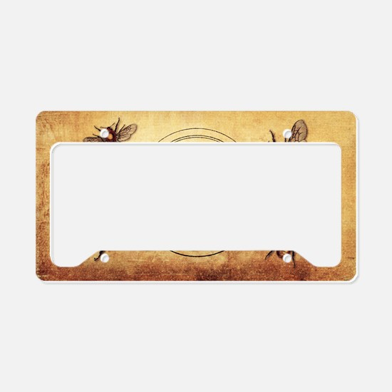 Vintage Bees License Plate Holder