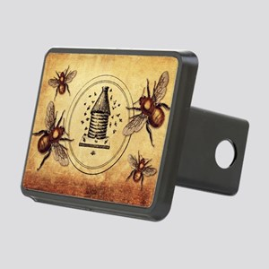 Vintage Bees Rectangular Hitch Cover