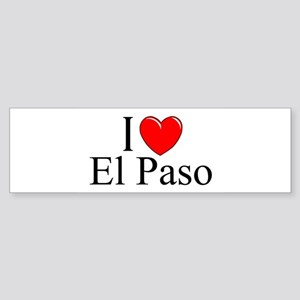 """I Love El Paso"" Bumper Sticker"
