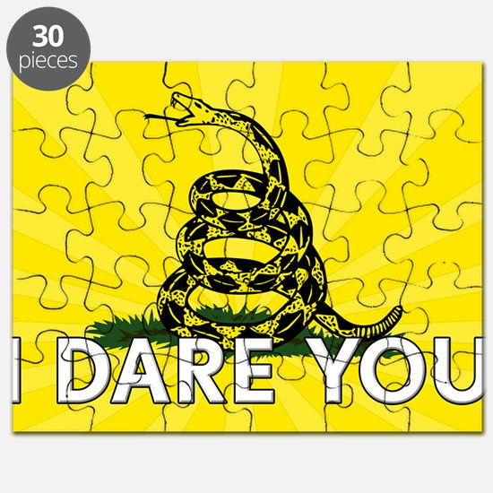 I DARE YOU to tread on Me Puzzle
