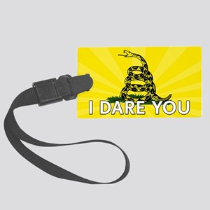 I DARE YOU to tread on Me Large Luggage Tag