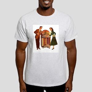 Mid-century Jukebox Illustration T-Shirt