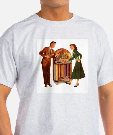 Mid-century Jukebox Illustration T-Shirt