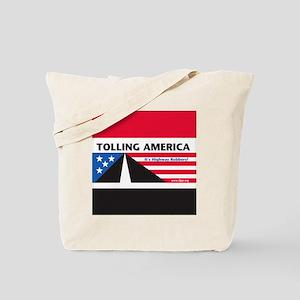SF_TollAmericaBlack_Throw11x11_052512 Tote Bag