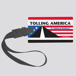 SF_TollAmericaBlack_Magnet2x3_05 Large Luggage Tag