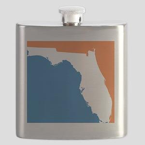 Florida Colors (Gators) Flask