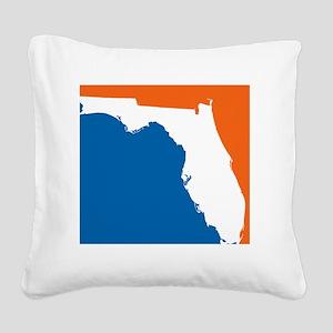 Florida Colors (Gators) Square Canvas Pillow