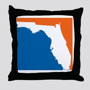 Florida Colors (Gators) Throw Pillow