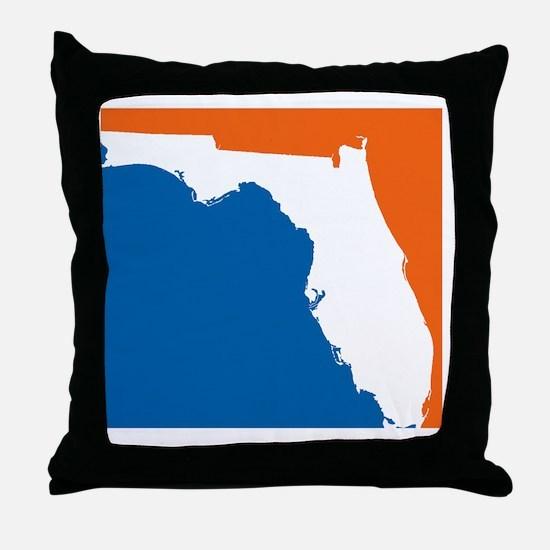 Florida Colors (Gators) Throw Pillow