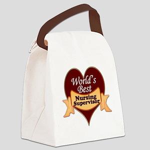 Worlds Best Nursing Supervisor Canvas Lunch Bag