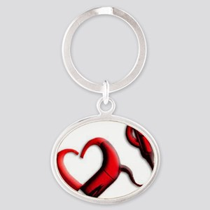 The Hearing Heart Oval Keychain