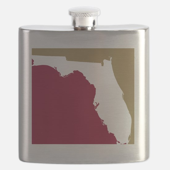 Florida State Colors Flask