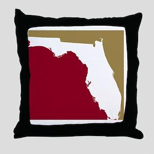 Florida State Colors Throw Pillow