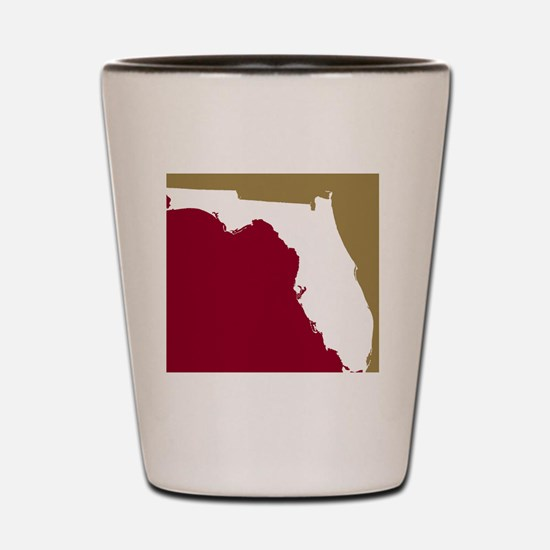 Florida State Colors Shot Glass