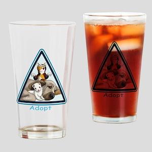 Adopt Animals Drinking Glass