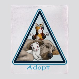 Adopt Animals Throw Blanket