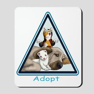 Adopt Animals Mousepad