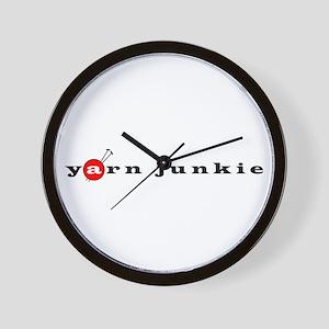 Yarn Junkie Wall Clock