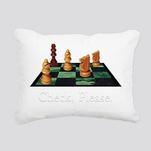 Check Please Rectangular Canvas Pillow