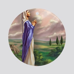 blessed virgin Mary Round Ornament