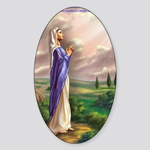 blessed virgin Mary Sticker (Oval)