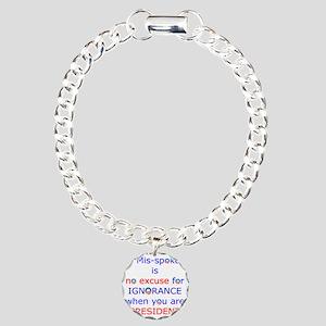 IGNORANCE Charm Bracelet, One Charm