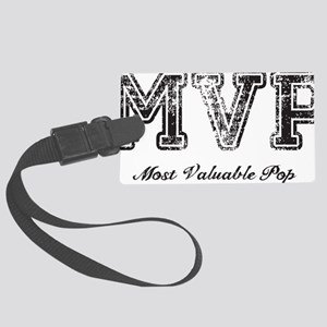 Most Valuable Pop – MVP – Black Large Luggage Tag
