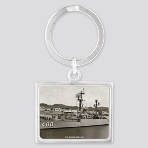 hissem der rectangle magnet Landscape Keychain