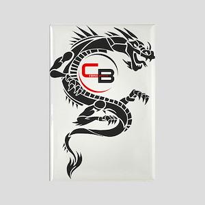 DragonBlack_FOR_WHITE_Background Rectangle Magnet