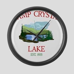 Camp Crystal Lake Counselor Large Wall Clock