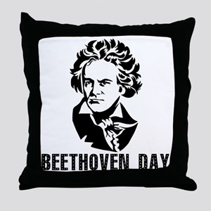 Beethoven Day Throw Pillow