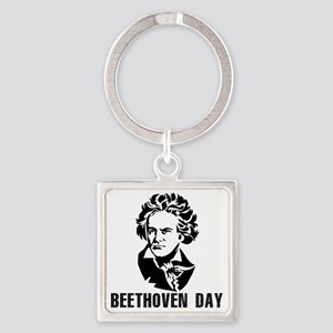 Beethoven Day Square Keychain