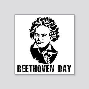 "Beethoven Day Square Sticker 3"" x 3"""